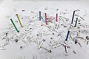 colorful incense sticks burning