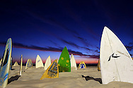 PERTH, AUSTRALIA - MARCH 10: 150 surfboard graveyard - Cottesloe by artist Chris Anderson is seen at the 10th annual Sculpture by the Sea at Cottesloe Beach on March 10, 2014 in Perth, Australia.  (Photo by Paul Kane/Getty Images)