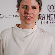 London, England, UK. 28th September 2017.Paula Villanuev Director of While waiting attend Raindance Film Festival Screening at Vue Leicester Square, London, UK.