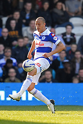 QPR's forward Bobby Zamora  - Photo mandatory by-line: Mitchell Gunn/JMP - Tel: Mobile: 07966 386802 29/03/2014 - SPORT - FOOTBALL - Loftus Road - London - Queens Park Rangers v Blackpool - Championship