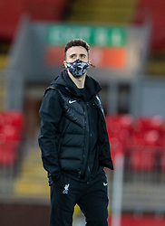 LIVERPOOL, ENGLAND - Thursday, March 4, 2021: Liverpool's Diogo Jota on the pitch before the FA Premier League match between Liverpool FC and Chelsea FC at Anfield. Chelsea won 1-0 condemning Liverpool to their fifth consecutive home defeat for the first time in the club's history. (Pic by David Rawcliffe/Propaganda)