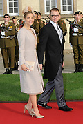Religious wedding of Grand Duke Guillaume and Princess Stephanie at the Cathedral Notre-Dame in Luxembourg <br /> <br /> On the photo:  Princess Victoria of Sweden and prince Daniel