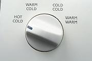Close up of washing machine knob