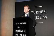 SIR NICHOLAS SEROTA, Turner prize 2009. Tate Britain. Millbank. London. 7 December 2009