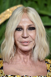 Donatella Versace attending the Fashion Awards 2017, in partnership with Swarovski, held at the Royal Albert Hall, London. PRESS ASSOCIATION Photo. Picture Date: Monday 4th December, 2017. Photo credit should read: Matt Crossick/PA Wire