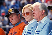 Presidents George Bush, Jimmy Carter and Rosalynn Carter at the Presidents Summit for America's Future in Philadelphia, PA.