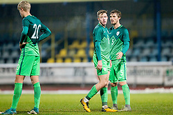 Gal Primc and Zan Zuzek of Slovenia during football match between National teams of Slovenia and France in UEFA European Under-21 Championship Qualification, on November 13, 2017 in Domzale, Slovenia. Photo by Vid Ponikvar / Sportida