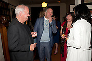 David Gilmour; John Malkovich, Freud Museum dinner, Maresfield Gardens. 16 June 2011. <br /> <br />  , -DO NOT ARCHIVE-© Copyright Photograph by Dafydd Jones. 248 Clapham Rd. London SW9 0PZ. Tel 0207 820 0771. www.dafjones.com.