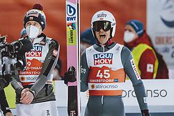 27.02.2021, Oberstdorf, GER, FIS Weltmeisterschaften Ski Nordisch, Oberstdorf 2021, Herren, Skisprung, HS106, Einzelbewerb, im Bild Piotr Zyla (POL), Dawid Kubacki (POL) // Piotr Zyla of Poland Dawid Kubacki of Poland during men ski Jumping HS106 Single Competition of FIS Nordic Ski World Championships 2021. in Oberstdorf, Germany on 2021/02/27. EXPA Pictures © 2021, PhotoCredit: EXPA/ JFK