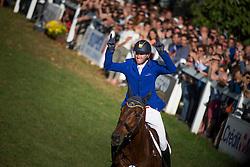 Carlile Thomas (FRA) - Tenareze<br /> Jumping 7 years old horses<br /> Mondial du Lion - Le Lion d'Angers 2014<br /> © Dirk Caremans<br /> 18/10/14