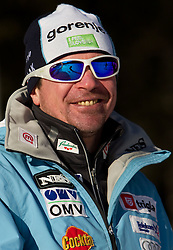 Coach Primoz Triplat during cross country race for Slovenian National Nordic combined Championship, on January 5, 2011 at Rudno polje, Pokljuka, Slovenia. (Photo by Vid Ponikvar / Sportida.com)