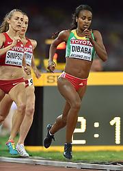 25-08-2015 CHN: IAAF World Championships Athletics day 4, Beijing<br /> Genzebe Dibaba (ETH) winning at 1500 meter Women<br /> Photo by Ronald Hoogendoorn / Sportida