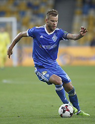 August 24, 2017 - Dynamo  Andriy Yarmolenko in action during the Europa League second play-off soccer match between FC Dynamo Kyiv and FC Maritimo, at the Olimpiyskyi stadium in Kyiv, Ukraine, August 24, 2017. (Credit Image: © Anatolii Stepanov via ZUMA Wire)