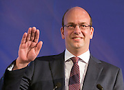 © Licensed to London News Pictures. 27/09/2014. Doncaster, UK. MP for Rochester and Strood Mark Reckless who announced his defection to UKIP from the Conservative Party at the conference today. The UKIP conference at Doncaster Racecourse Friday 27th September 2014. Photo credit : Stephen Simpson/LNP