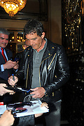 Mar 30, 2016 - Madrid, Spain - Last night, was to have fun at the Anthill, television program, our most international actor Antonio Banderas. The Malaga which is about to release his new film starring Altamira, you can see from next April 1. The film, directed by Hugh Hudson, shows the discovery of the most famous caves of Cantabria and historical site of great importance in the world. Antonio, gives life on this occasion Marcelino Sanz de Sautola who discovered this wonder in 1875 with his daughter Maria, fighting the international scientific community, contempt finding. <br /> (Credit Image: © Exclusivepix Media)