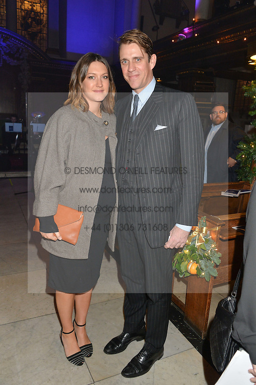 BEN & MARIE-CLARE ELLIOT at the Quintessentially Foundation and The Crown Estate's Fayre of St.James' on 27th November 2014.  The evening started with a christmas concert at St.James's Church, Piccadilly.  Following the concert singer Leona Lewis switched on the Jermyn Street Christmas lights and then guests had a party at the newly refurbished Quaglino's, 16 Bury Street, London