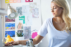 Young Woman in her Home Office