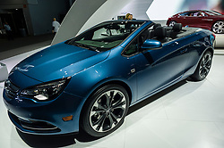 NEW YORK, USA - MARCH 23, 2016: Buick Cascada convertible on display during the New York International Auto Show at the Jacob Javits Center.
