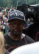Spike Lee at the Spike Lee's Brooklyn celebration for Michael Jackson's Birthday held at the Neader field in Prospect Park, Brooklyn on August 29, 2009..Filmmaker Spike Lee celebrates the ' King of Pop ' Birthday with a crowd packed party remembering the recently departing All time Great with a day long spinning of his music in Brooklyn's own Prospect Park