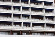 Concrete appartment blocks.