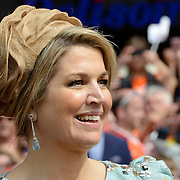 Koningsdag 2014 in Amstelveen, het vieren van de verjaardag van de koning. / Kingsday 2014 in Amstelveen, celebrating the birthday of the King. <br /> <br /> <br /> Op de foto / On the photo:  Koningin Maxima / Queen Maxima