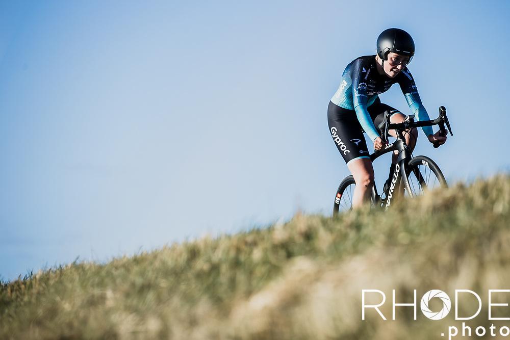 Maud Rijnbeek (NED/NXTG Racing)<br /> <br /> Healthy Ageing Tour (NED) 2021<br /> UCI Women Elite 2.1<br /> Stage 2 : Individual Time Trial (ITT) – Lauwersoog – Het Hoogeland 14.4km<br /> <br /> ©RhodePhoto