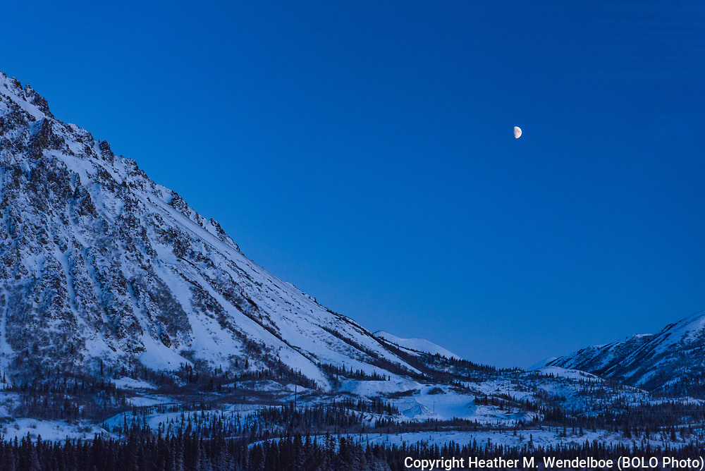 Waxing Gibbous<br /> 04 Jan 20<br /> Alaska Railroad<br /> Anchorage to Fairbanks