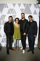 """Talal Derki, Eva Kemme, Tobias N. Siebert and  Ansgar Frerich of the Oscar® nominated documentary feature """"Of Fathers and Sons"""" prior to the Academy of Motion Picture Arts and Sciences' """"Oscar Week: Documentaries"""" event on Tuesday, February 19, 2019 at the Samuel Goldwyn Theater in Beverly Hills. The Oscars® will be presented on Sunday, February 24, 2019, at the Dolby Theatre® in Hollywood, CA and televised live by the ABC Television Network."""