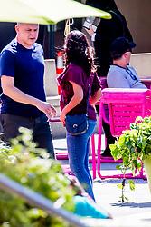 "EXCLUSIVE: Eva Longoria seen on set of ""Dog Days"" in Los Angeles. 06 Oct 2017 Pictured: Eva Longoria. Photo credit: MEGA TheMegaAgency.com +1 888 505 6342"
