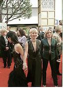 Lucy Liu, Anne Heche, and Jane Palowski. Golden Globes. Beverley Hilton. 21 January 2001. © Copyright Photograph by Dafydd Jones 66 Stockwell Park Rd. London SW9 0DA Tel 020 7733 0108 www.dafjones.com