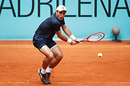 Aslan Karatsev of Russia in action during his Men's Singles match, round of 64, against Ugo Humbert of France on the Mutua Madrid Open 2021, Masters 1000 tennis tournament on May 3, 2021 at La Caja Magica in Madrid, Spain - Photo Oscar J Barroso / Spain ProSportsImages / DPPI / ProSportsImages / DPPI