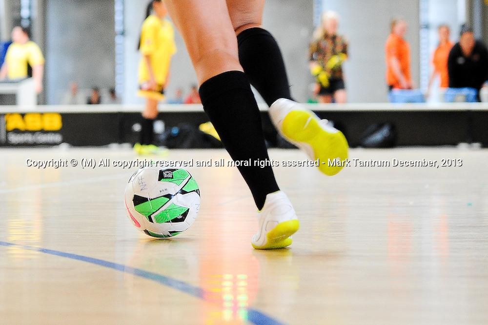 Girls and Womens National Futsal Tournament, 14 December 2013. Photo by Mark Tantrum/ Photosport.co.nz