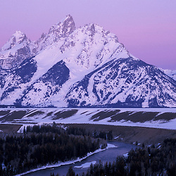 Snake River Overlook, Grand Teton N.P...Early morning light on the Grand Tetons.