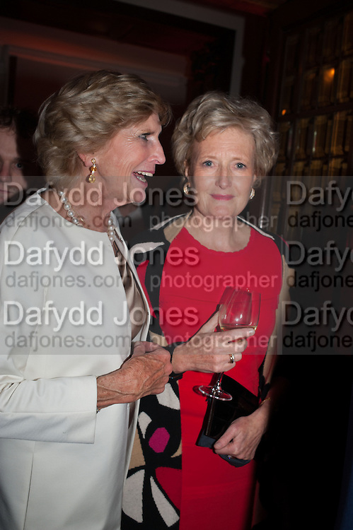 RUTH FITZGIBBON; LADY LUCILLE CHADLINGTON, Rocco Forte's Brown's Hotel Hosts 175th Anniversary Party, Browns Hotel. Albermarle St. London. 16 May 2013