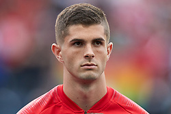 May 28, 2018 - Chester, PA, U.S. - CHESTER, PA - MAY 28: United States midfielder Christian Pulisic (10) looks on during the national anthem prior to the start of the international friendly match between the United States and Bolivia at the Talen Energy Stadium on May 28, 2018 in Chester, Pennsylvania. (Photo by Robin Alam/Icon Sportswire) (Credit Image: © Robin Alam/Icon SMI via ZUMA Press)