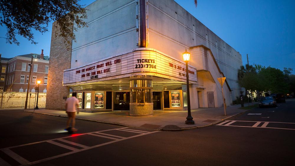 SAVANNAH, GA - APRIL 4, 2020: Empty streets and squares in the Historic Downtown Neighborhood. (AJC Photo/Stephen B. Morton)