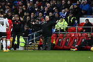 Rotherham manager Steve Evans. Skybet football league championship match, Cardiff city v Rotherham Utd at the Cardiff city stadium in Cardiff, South Wales on Saturday 6th December 2014<br /> pic by Mark Hawkins, Andrew Orchard sports photography.