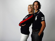 Ice dancers Tanith Belbin (L) and Ben Agosto pose for a portrait at the 2010 United States Olympic Team Media Summit in Chicago on September 12, 2009.  (UPI)