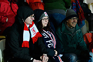 Middlesbrough fans during the The FA Cup match between Newport County and Middlesbrough at Rodney Parade, Newport, Wales on 5 February 2019.