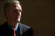Former New Hampshire Senator Judd Gregg poses for a portrait at the George W. Bush Institute at SMU in Dallas, Texas on September 21, 2016. (Cooper Neill for The New York Times)