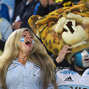 Argentinian fans during the Argentina V Scotland, Pool B match at the IRB Rugby World Cup tournament. Wellington Regional Stadium, Wellington, New Zealand, 25th September 2011. Photo Tim Clayton...