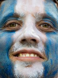 June 21, 2018 - Nizhny Novgorod, Russia - Kibic Argentyny during the 2018 FIFA World Cup Russia group D match between Argentina and Croatia at Nizhny Novgorod Stadium on June 21, 2018 in Nizhny Novgorod, Russia. (Credit Image: © Foto Olimpik/NurPhoto via ZUMA Press)