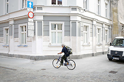 August 20, 2017 - Bydgoszcz, Poland - A building under renovation is seen in the old part of the city on 20 August, 2017. (Credit Image: © Jaap Arriens/NurPhoto via ZUMA Press)
