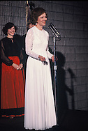 First Lady Rosalynn Carter at a formal event in December 1977<br /> Photo by Dennis Brack