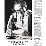 Portrait of Larry King on the cover of Style section of The Washington Post on January 25, 2021.