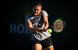 March 15, 2019 - Indian Wells, USA - Aryna Sabalenka of Belarus during practice at the 2019 BNP Paribas Open WTA Premier Mandatory tennis tournament (Credit Image: © AFP7 via ZUMA Wire)