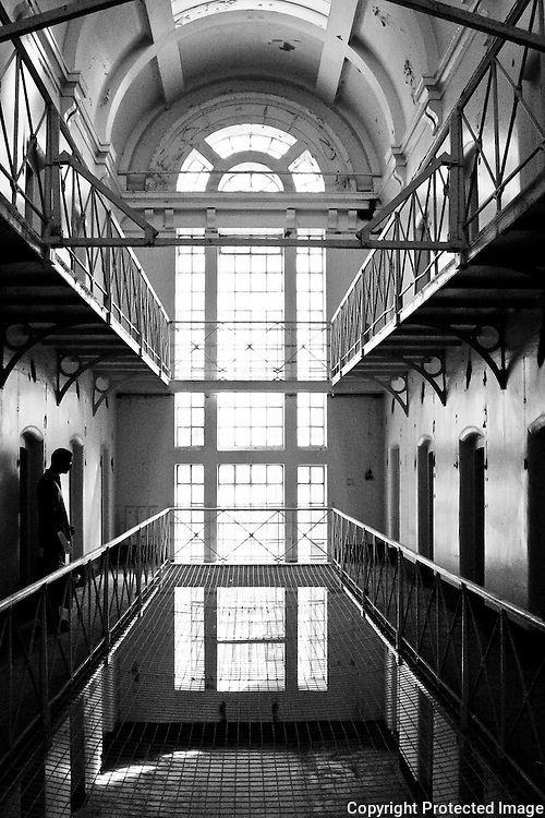 Oxford Prison A Wing part of Oxford Castle in August 2004 on the last Open Day before redevelopment as Malmaison hotel