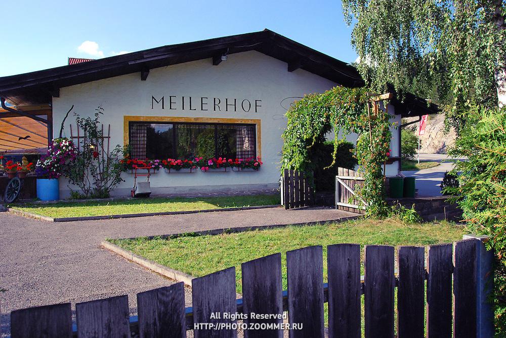 Meilerhof small family restaurant in Alps, Reith bei Seefeld (Tirol, Austria)