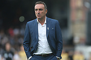Sheffield Wednesday Manager Carlos Carvalhal makes his way to the dugout. EFL Skybet championship match, Fulham v Sheffield Wednesday at Craven Cottage in London on Saturday 19th August 2017<br /> pic by Steffan Bowen, Andrew Orchard sports photography.