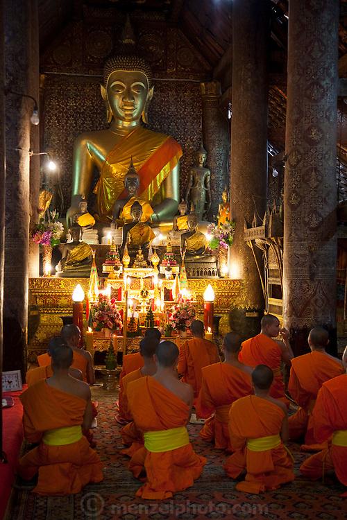 Wat Xieng Thong in Luang Prabang, Laos. Buddhist temple complex.